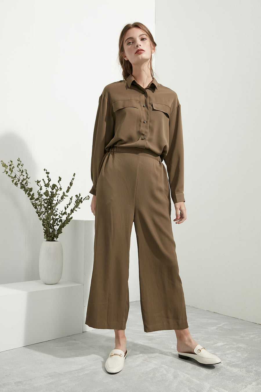 Moss Uniform Jumpsuit