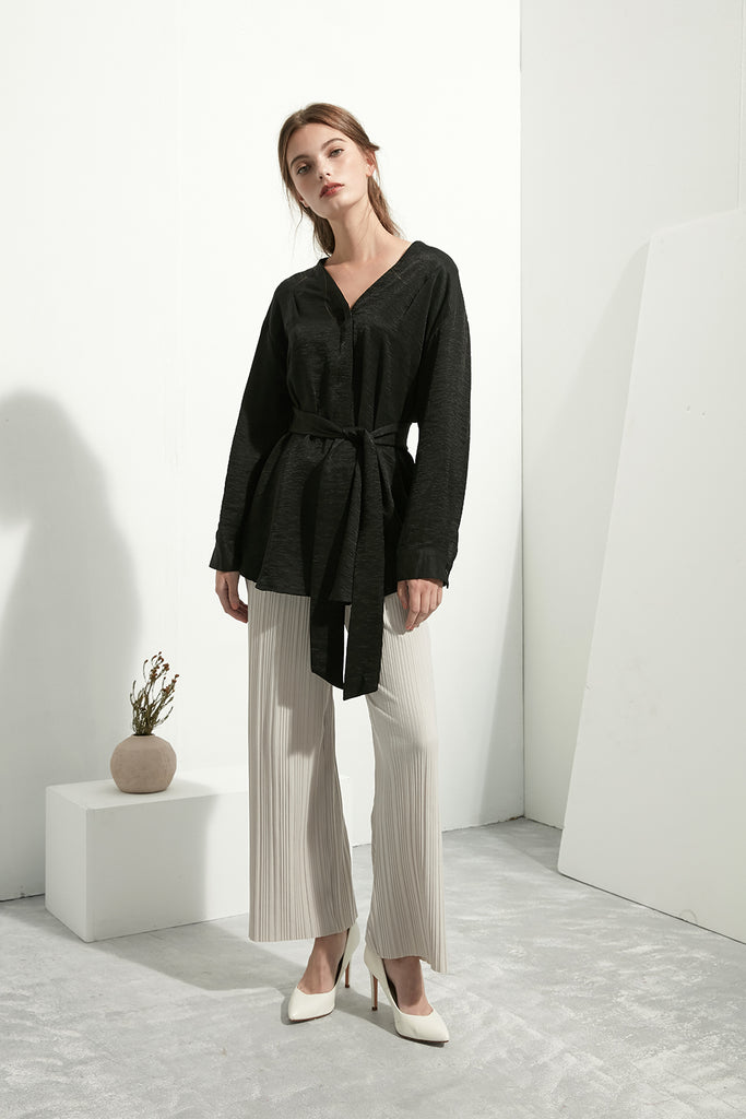 Soft Pleated Trousers