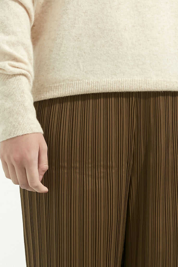 Elasticated Pleated Trousers - Zelle Studio