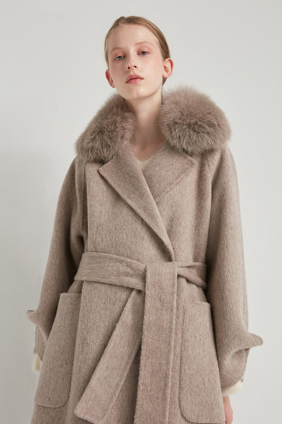 Handmade wool and alpaca-blend coat