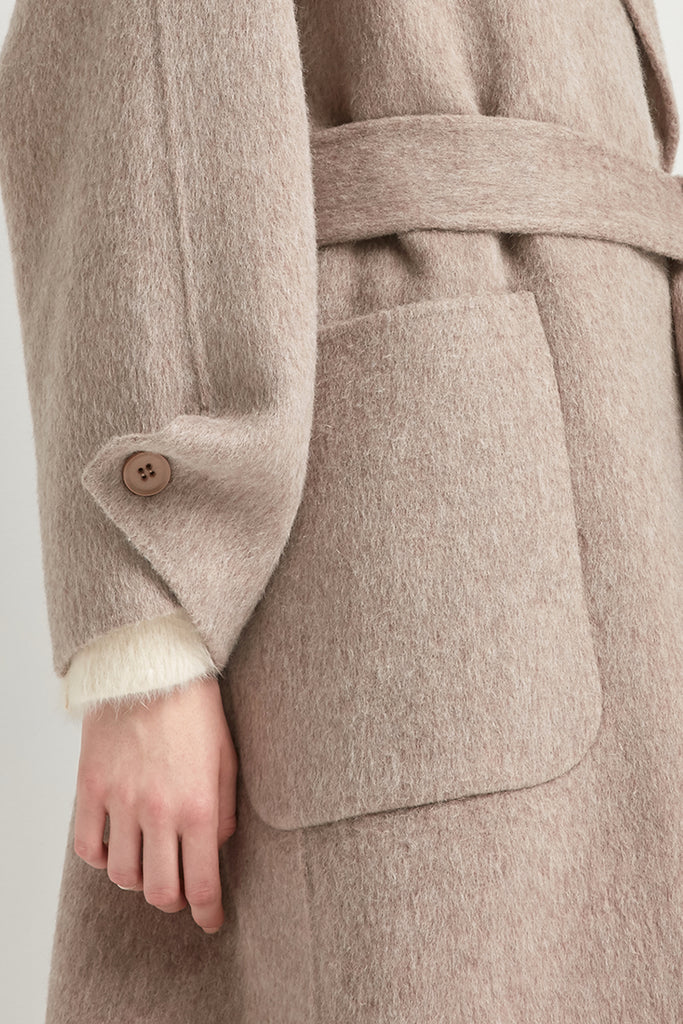 Handmade wool and alpaca-blend coat - Zelle Studio