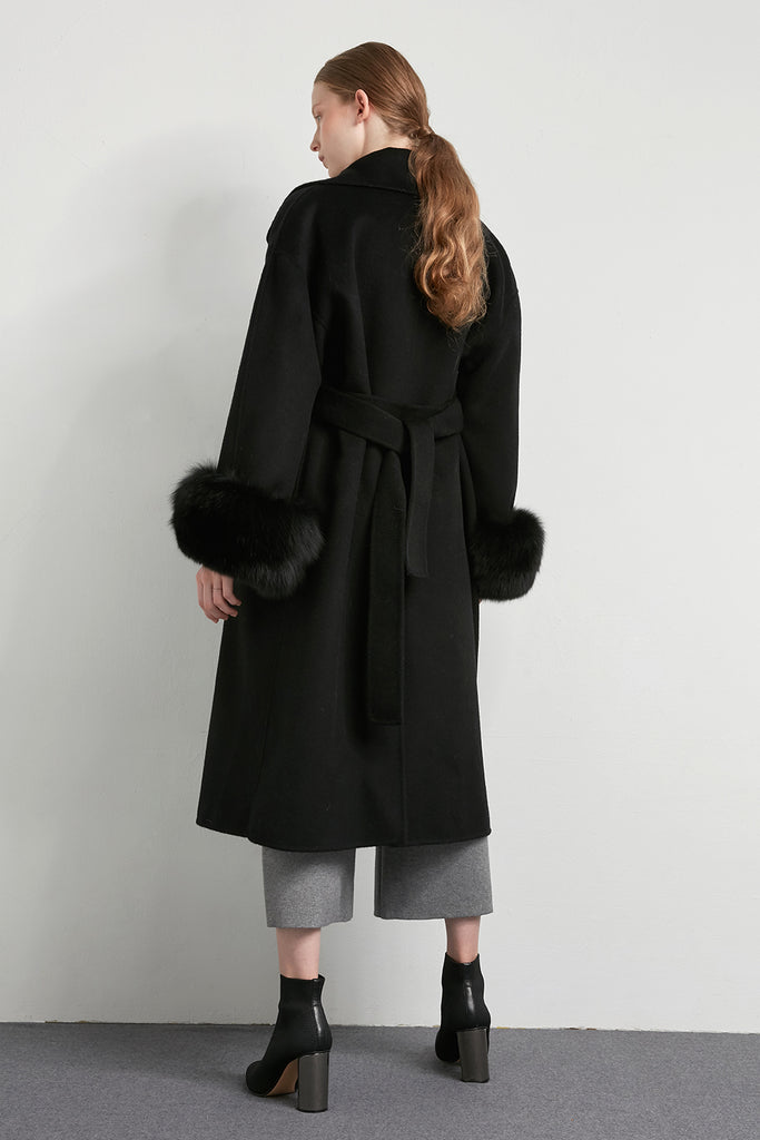 Oversized handmade wool coat - Zelle Studio