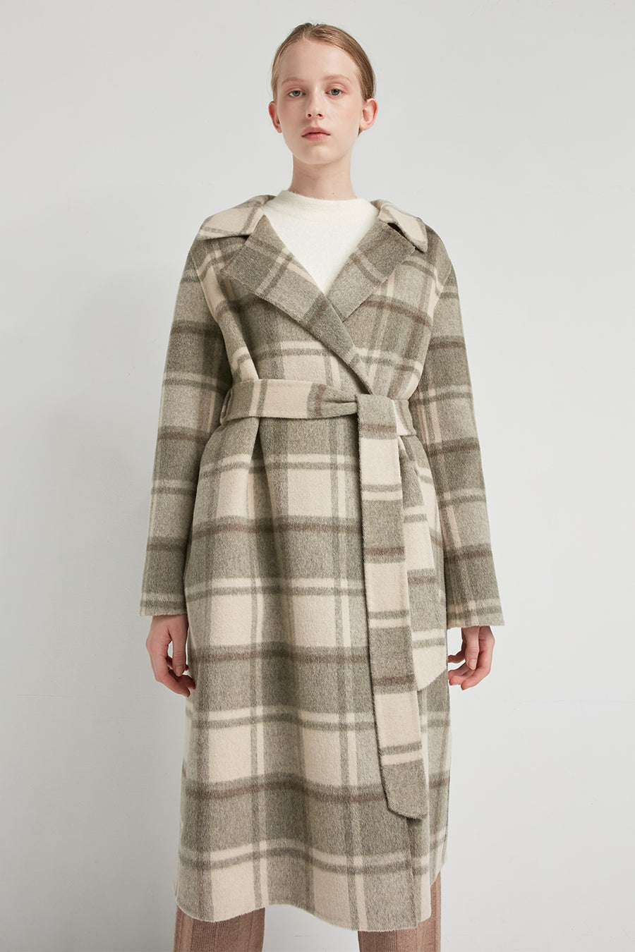 Checked wool-blend coat - Zelle Studio
