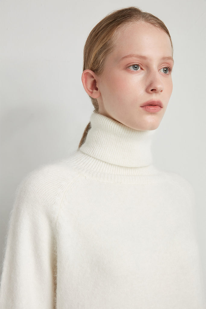 Turtleneck wool angora jumper - Zelle Studio
