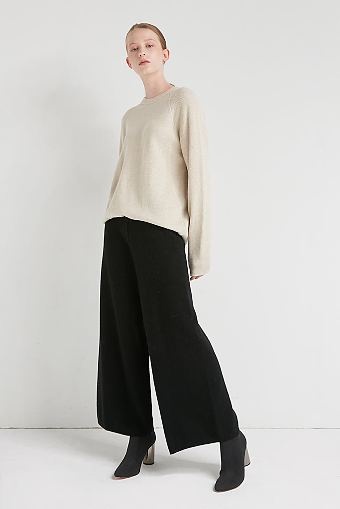 Crewneck cashmere and wool-blend jumper - Zelle Studio