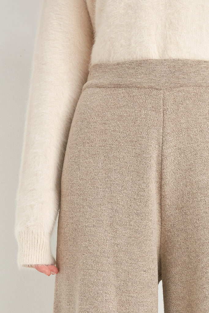 Wool and cashmere-blend culottes