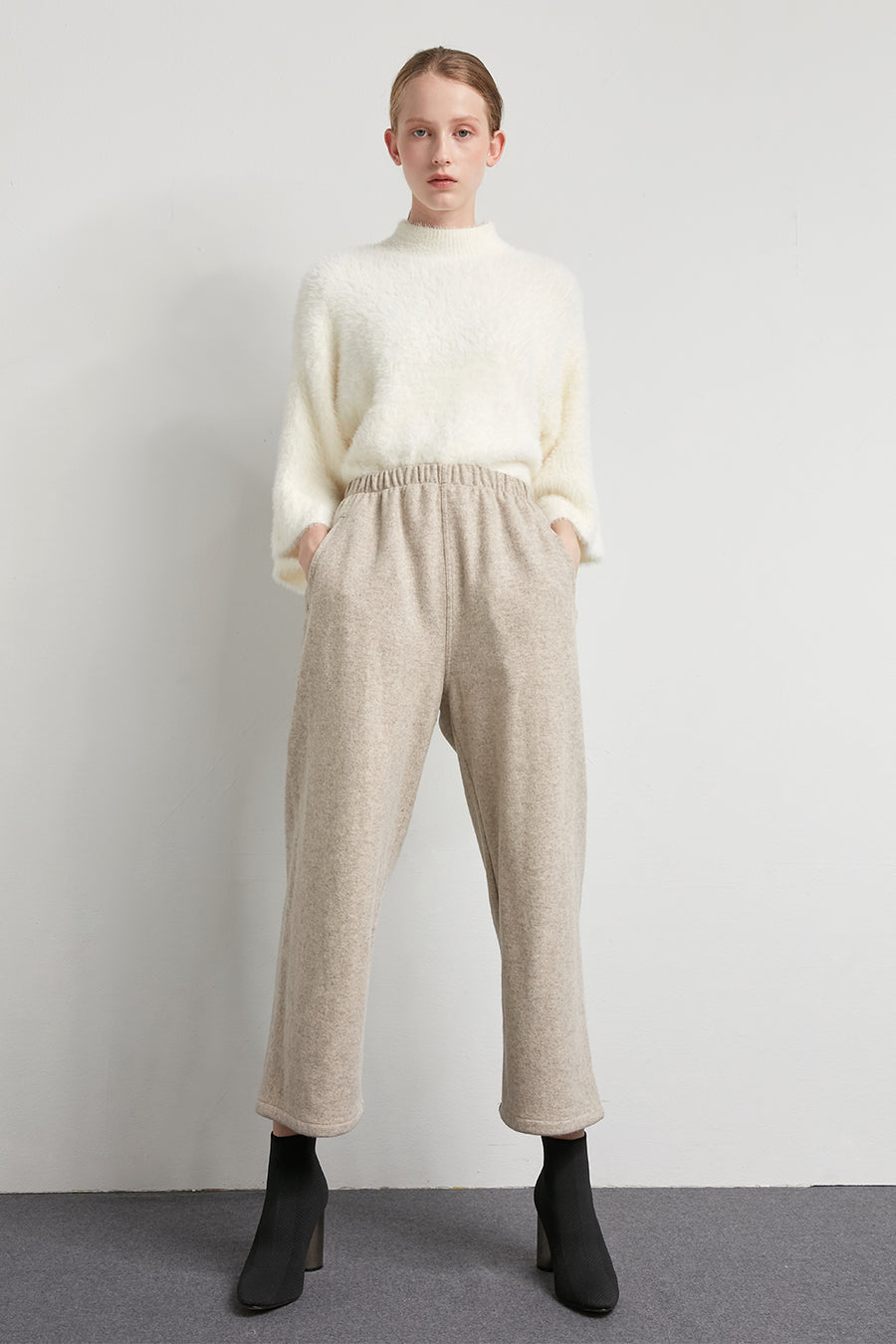 Elasticated wool trousers - Zelle Studio