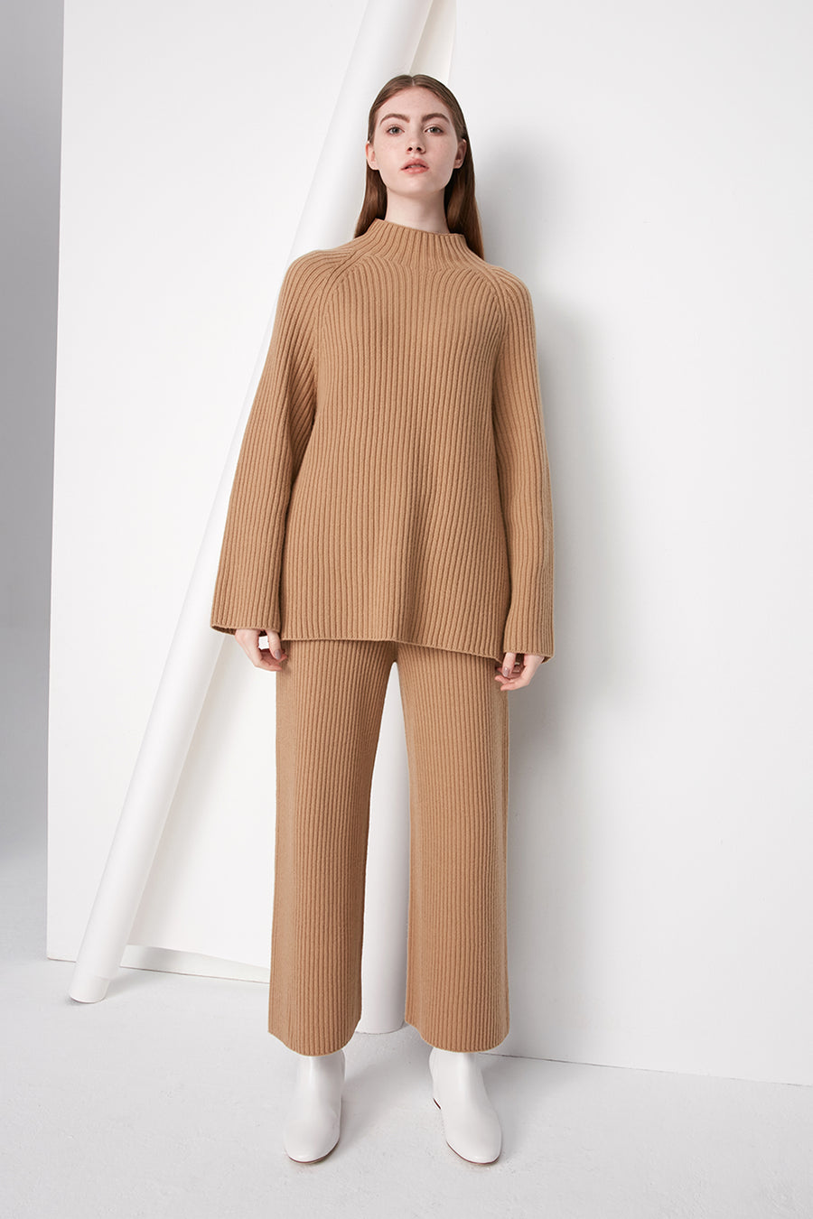 Cashmere and wool ribbed jumper - Zelle Studio