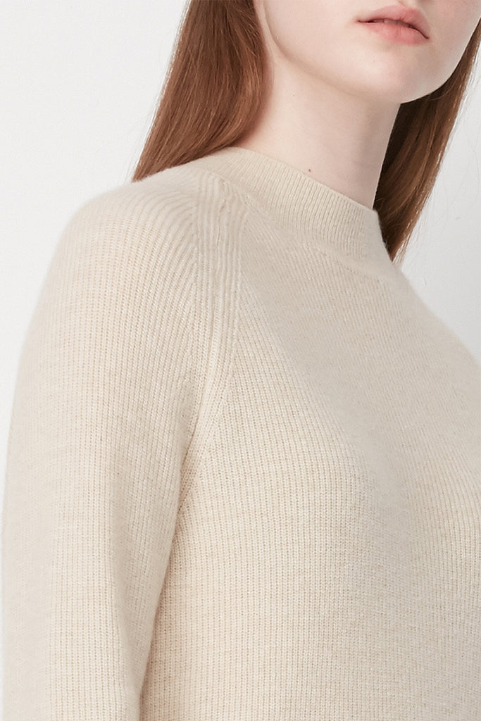 Ribbed wool and cashmere-blend jumper - Zelle Studio