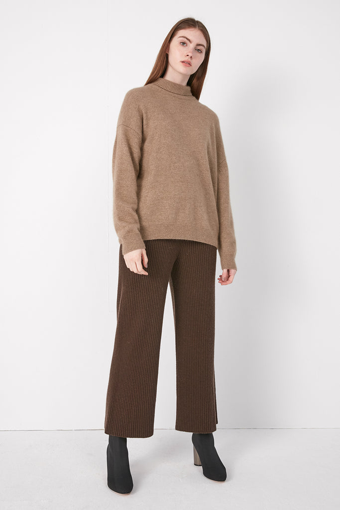 Wool and raccoon-blend turtleneck jumper - Zelle Studio