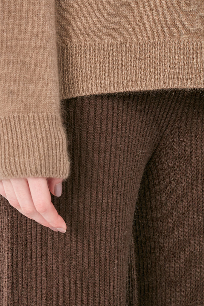 Wool and raccoon-blend turtleneck jumper