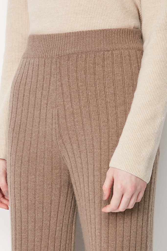 Wool-blend ribbed trousers - Zelle Studio