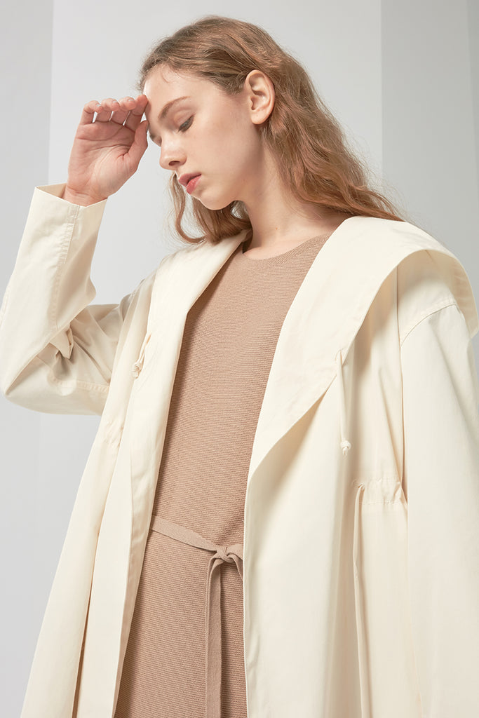 Lightweight hooded coat - Zelle Studio