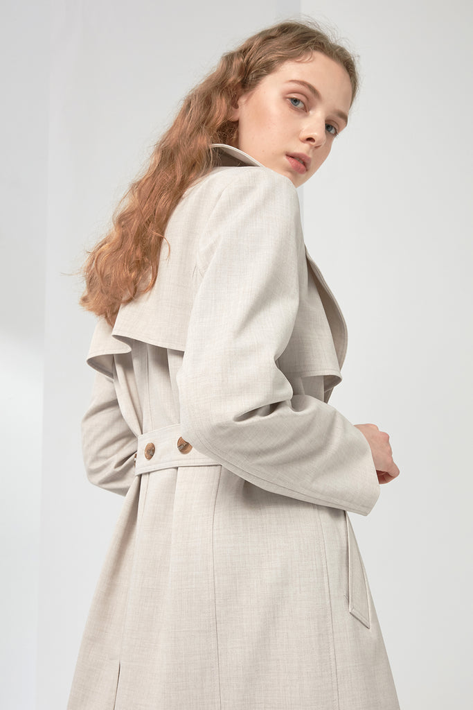 Longline trench coat - Zelle Studio