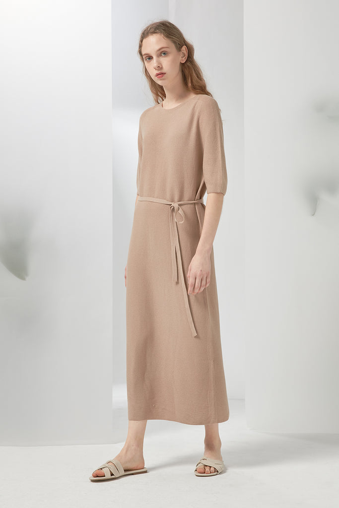 Fine-gauge knitted dress - Zelle Studio