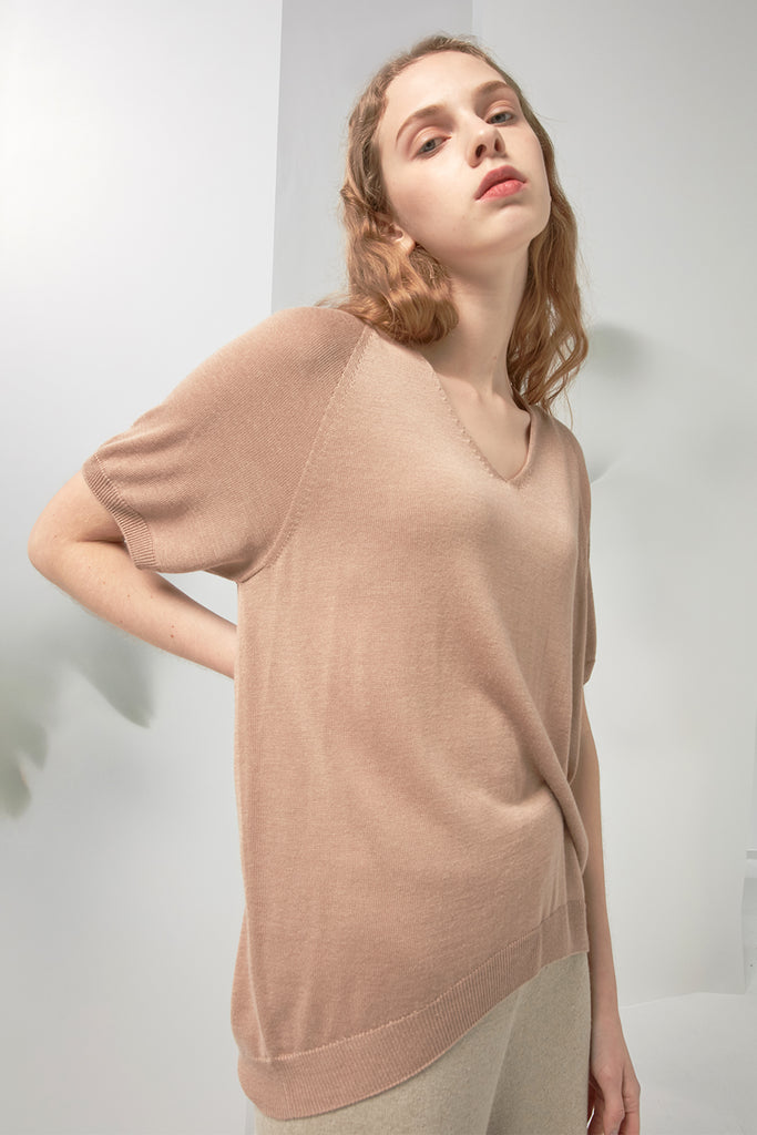 Short-sleeve whole-garment sweater