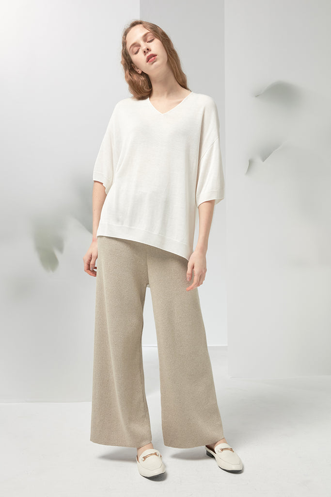 Fine-gauge whole-garment sweater - Zelle Studio