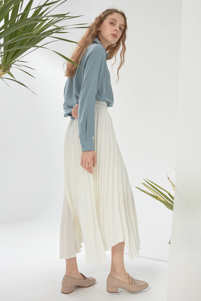 Asymmetric pleated skirt - Zelle Studio
