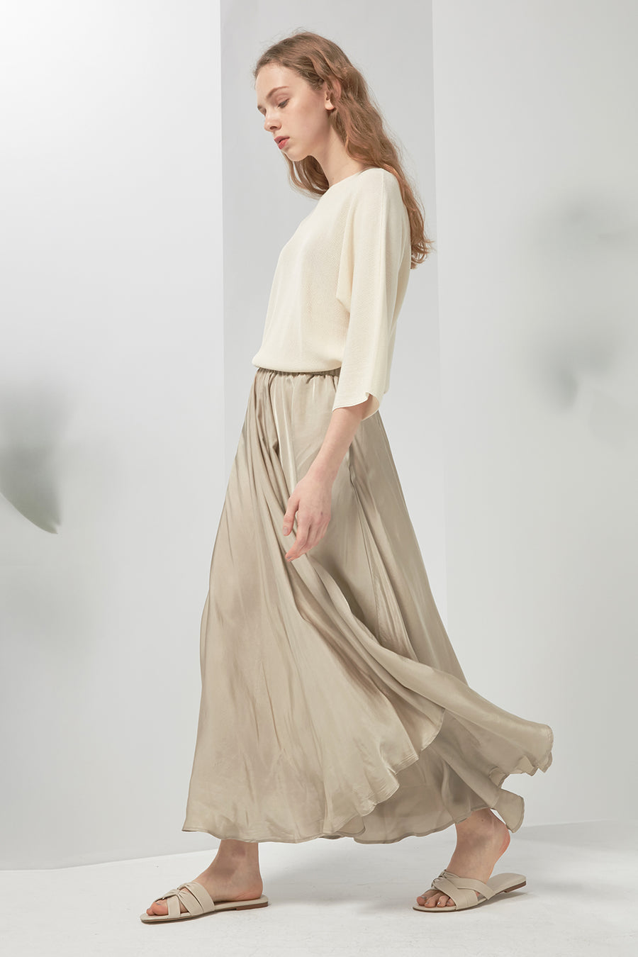 Long satin skirt - Zelle Studio