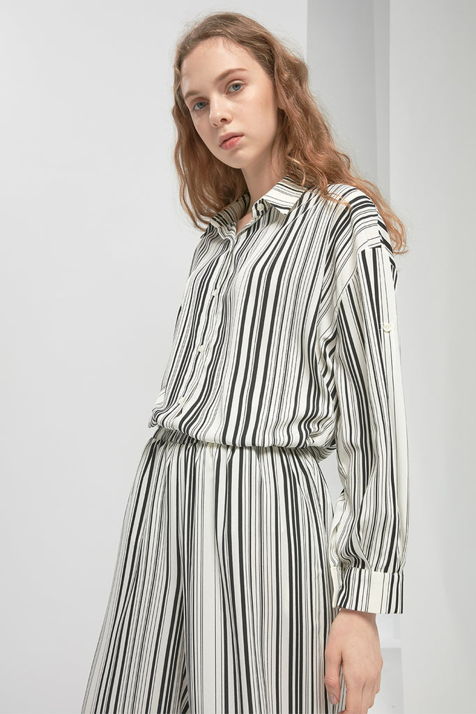 Striped chiffon blouse - Zelle Studio