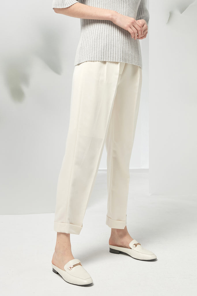Ribbon elasticated chiffon trousers