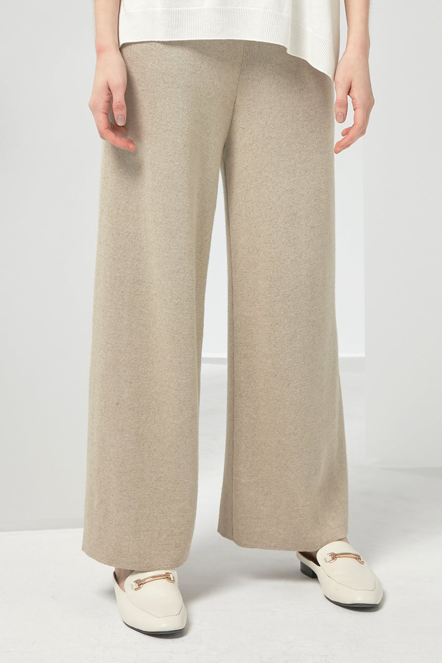 Linen-blend knitted trousers - Zelle Studio