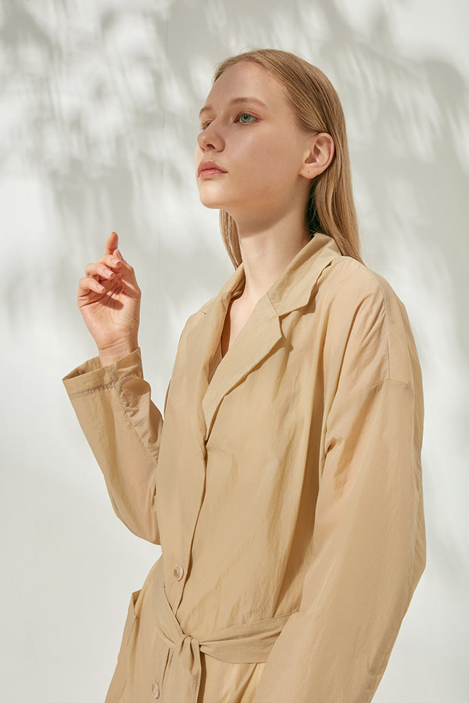 Lightweight water-repellent shirt coat - Zelle Studio