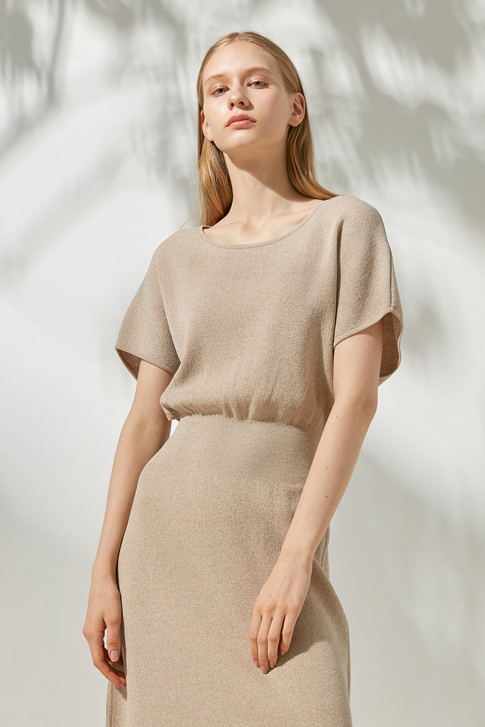 Cotton-blend knitted dress - Zelle Studio