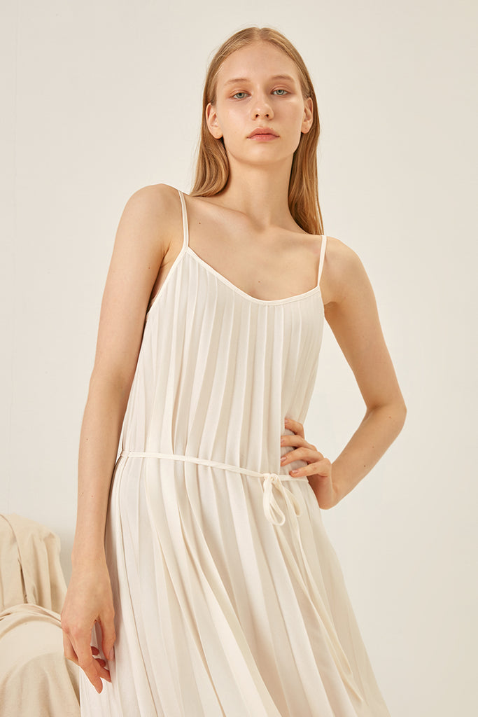 Pleated slip dress - Zelle Studio