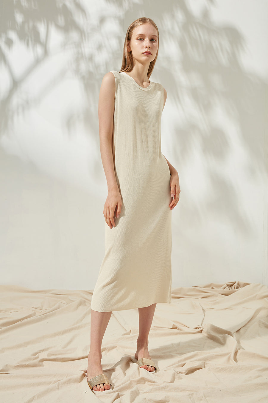 Fine-gauge ribbed dress - Zelle Studio