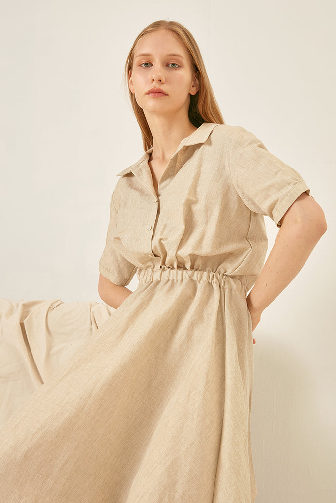 Linen shirt dress - Zelle Studio