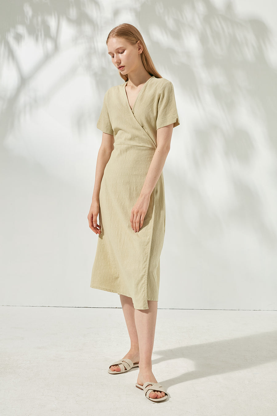 Cotton wrap dress - Zelle Studio