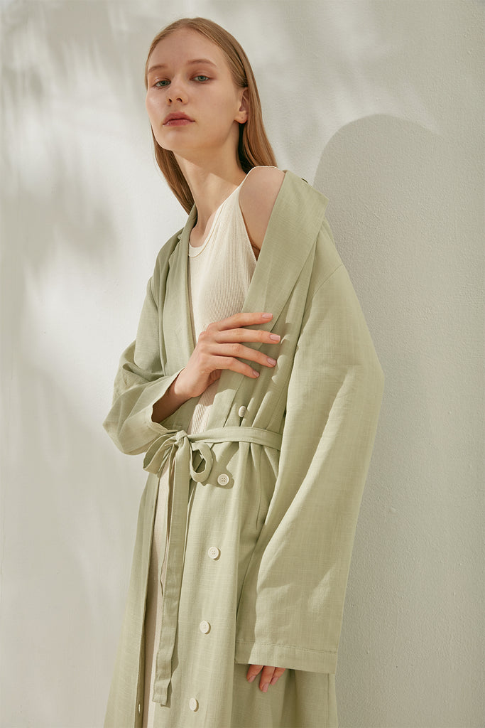 Oversized linen-blend dress - Zelle Studio