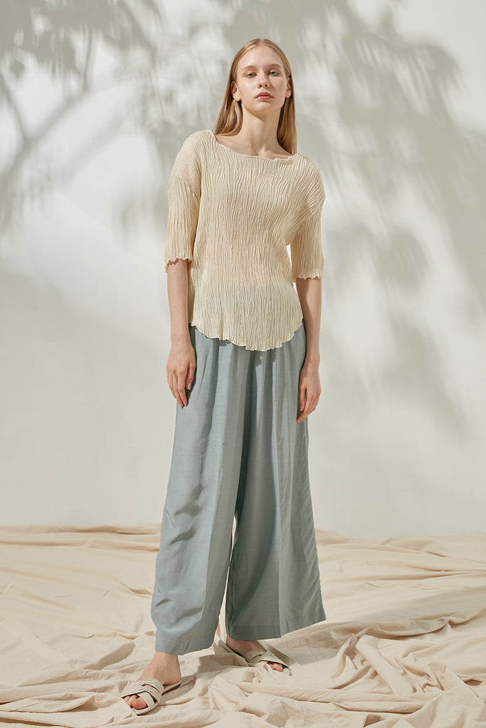 Elasticated jersey trousers - Zelle Studio