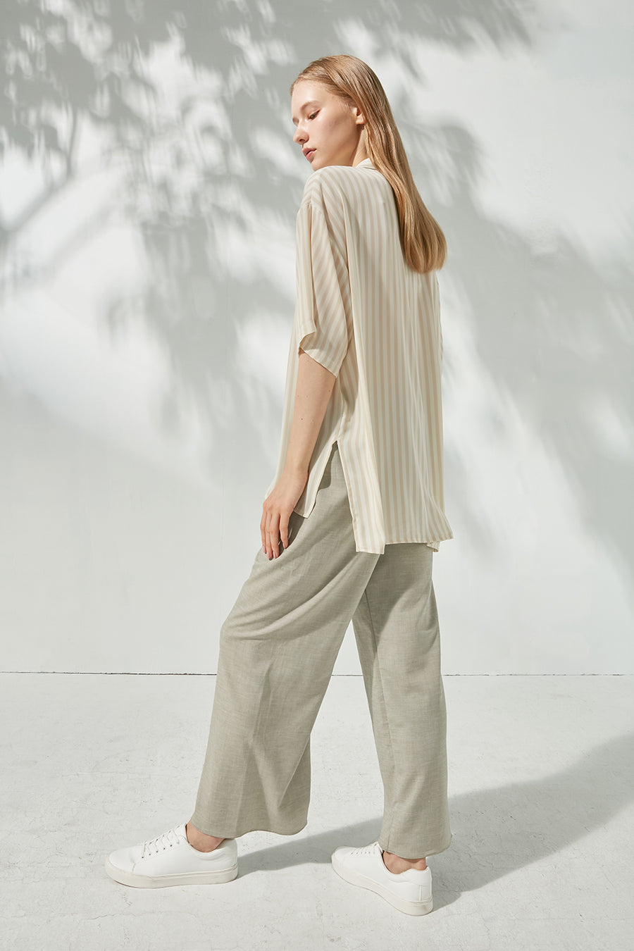 Elasticated wide-legged trousers - Zelle Studio
