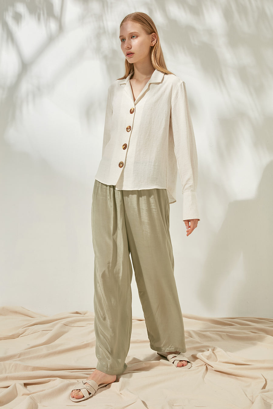 Basic wide-leg trousers - Zelle Studio