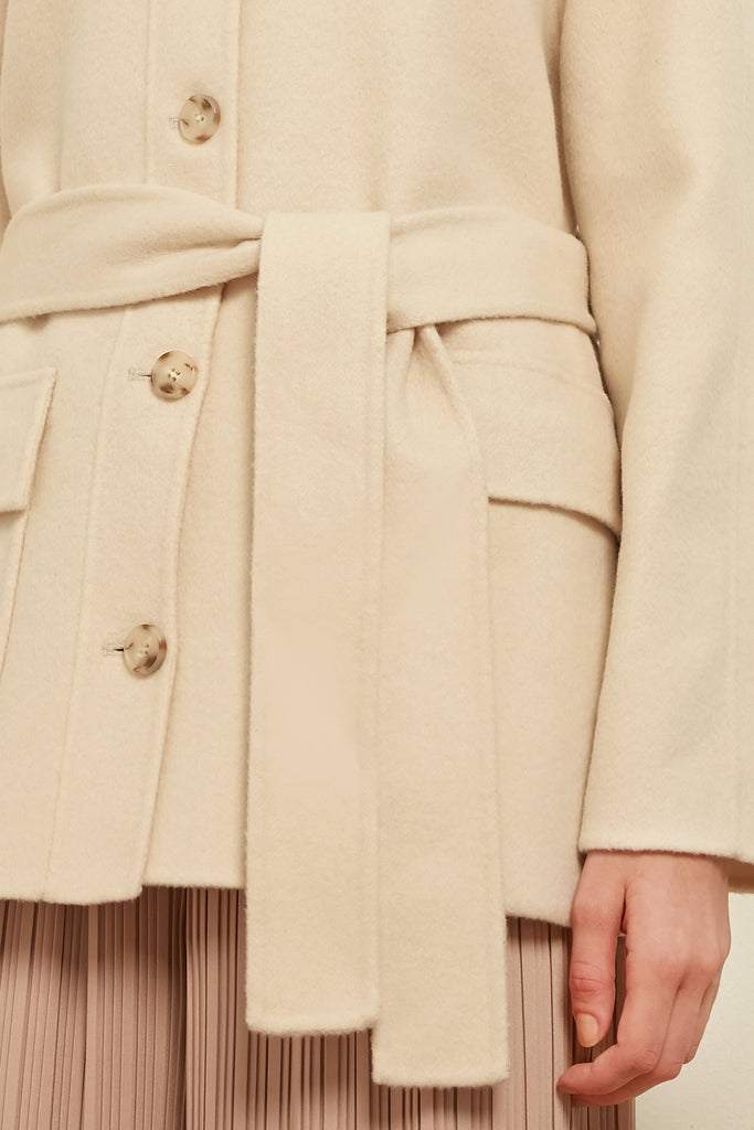 Belted wool jacket - Zelle Studio