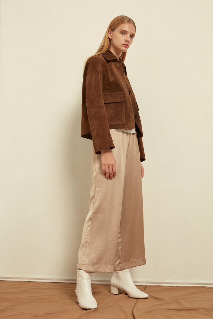 Short suede jacket - Zelle Studio