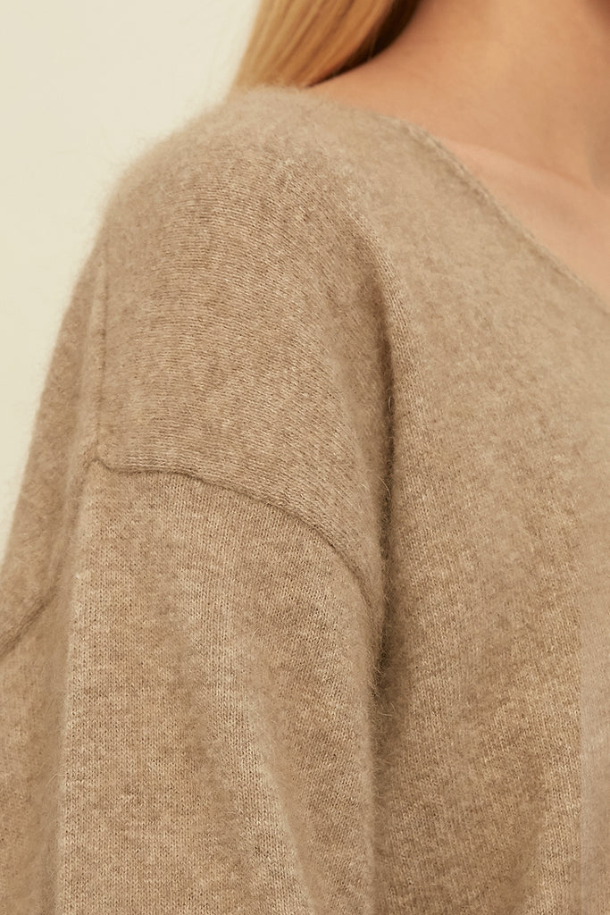 Wool and Raccoon-blend sweater - Zelle Studio