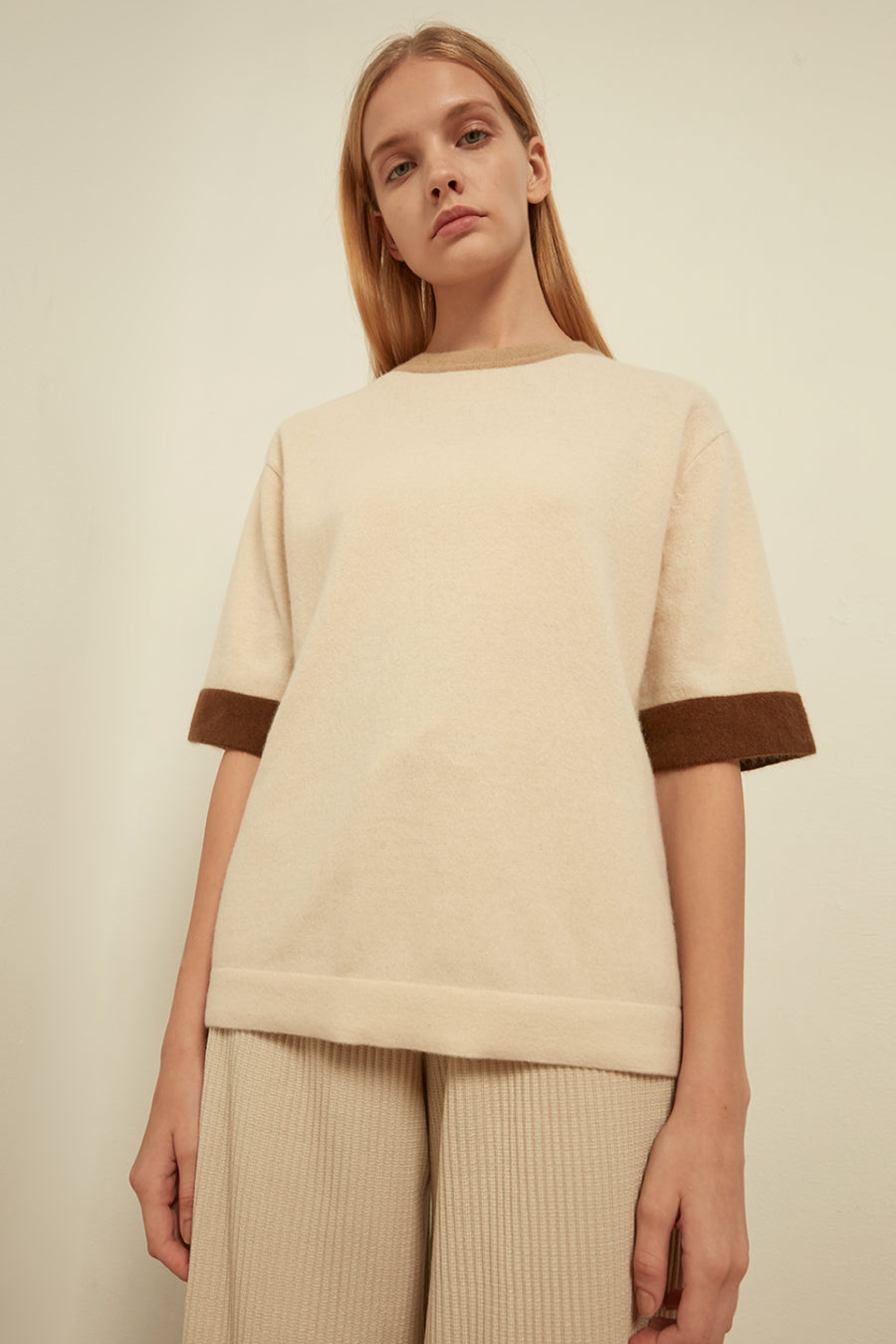 Colour-block wool-blend sweater - Zelle Studio