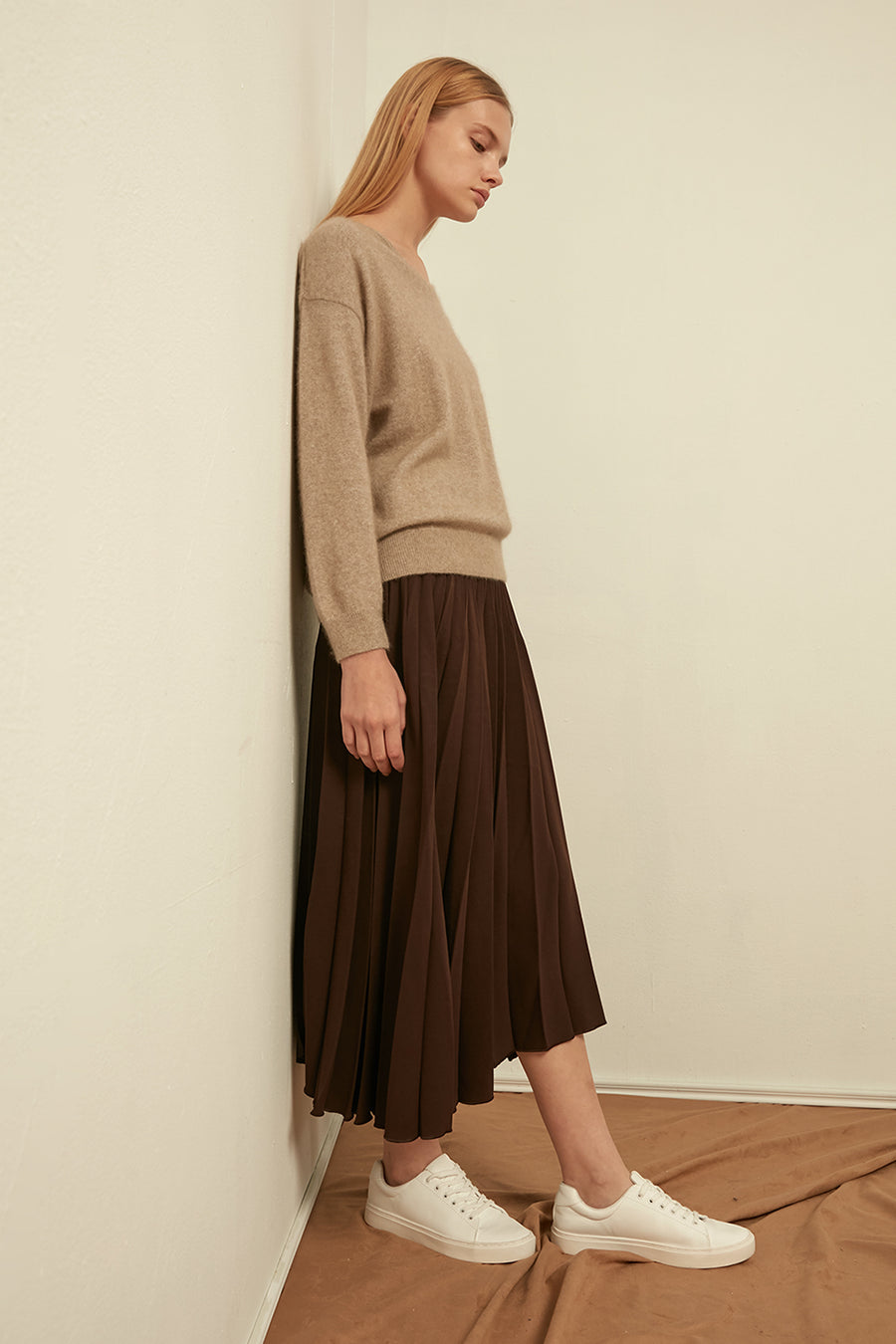 Elasticated midi skirt - Zelle Studio