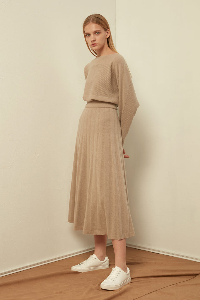 Fine-gauge wool-blend skirt - Zelle Studio