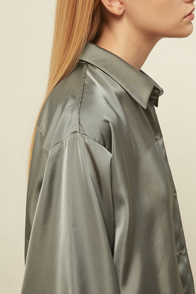 Basic satin shirt - Zelle Studio