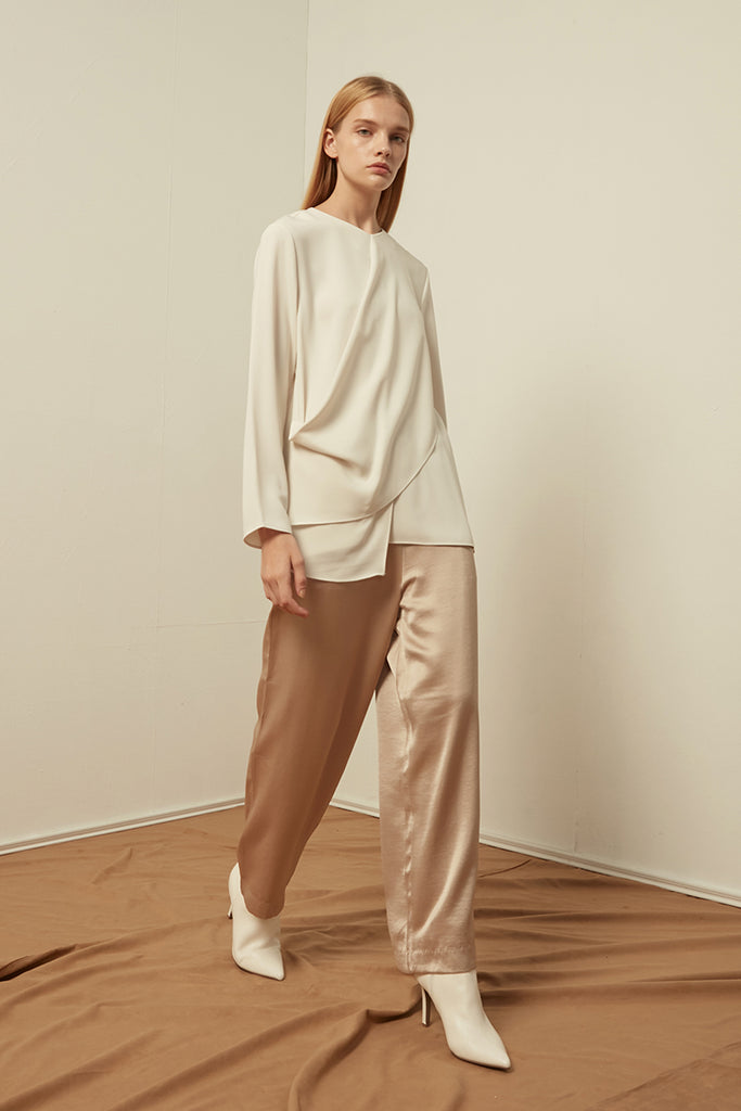 Layered chiffon top - Zelle Studio