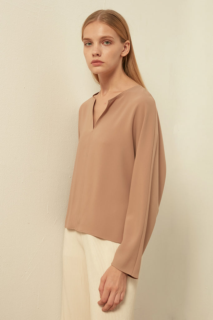 V-neck chiffon top