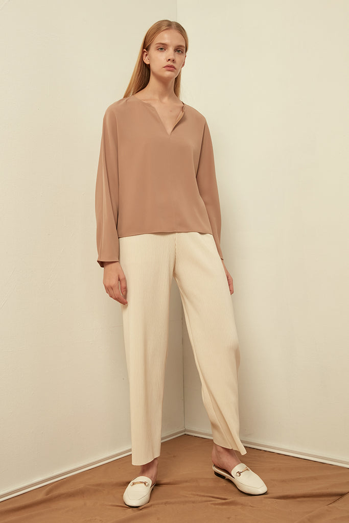V-neck chiffon top - Zelle Studio