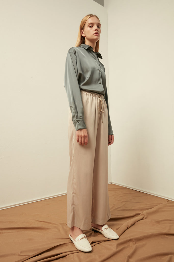 Elasticated trousers with drawstrings - Zelle Studio