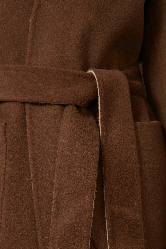 Double-faced belted wool coat - Zelle Studio