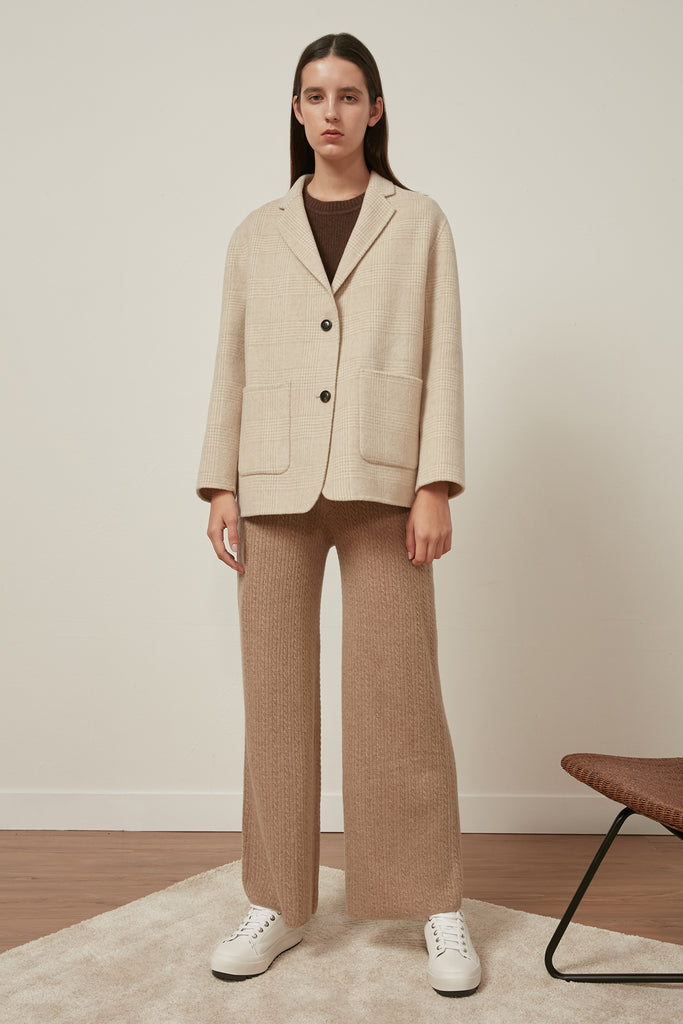 Wool-blend checked coat - Zelle Studio