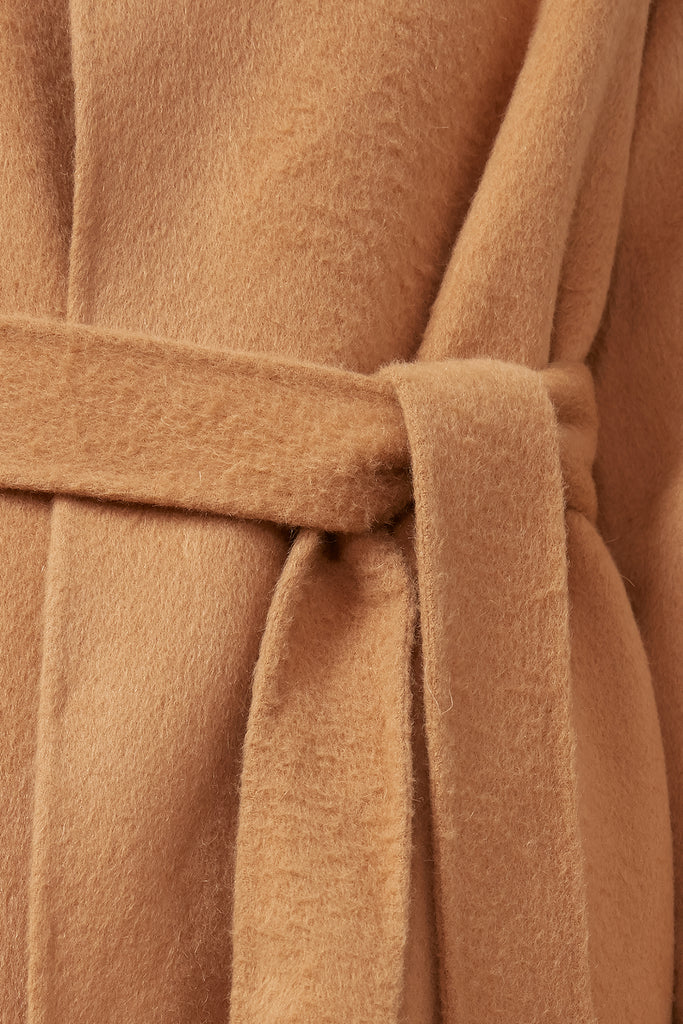 Wool and alpaca-blend belted coat - Zelle Studio